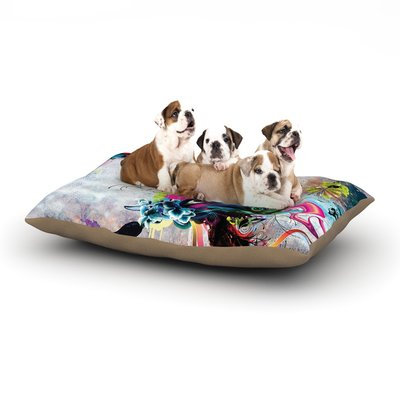 East Urban Home Mat Miller 'Streaming Eyes' Abstract Dog Pillow with Fleece Cozy Top Size: Large (50