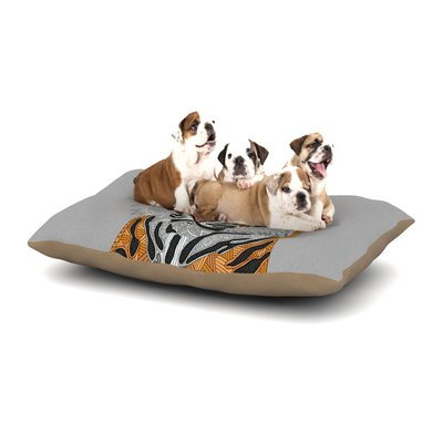 East Urban Home Art Love Passion 'Tiger' Dog Pillow with Fleece Cozy Top Size: Small (40