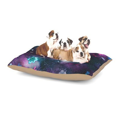 East Urban Home Fernanda Sternieri 'Fairy Tale' Floral Dog Pillow with Fleece Cozy Top Size: Small (40