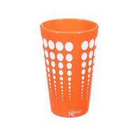 Ebern Designs Cayden Silipint Water/Juice Glass Color: Orange / White