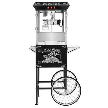 Superior Popcorn Company 0.25 Qt. Hot and Fresh Popcorn Popper Machine with Cart Color: Black
