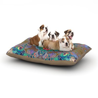 East Urban Home Danii Pollehn 'Flowery' Floral Kaleidoscope Dog Pillow with Fleece Cozy Top Size: Large (50