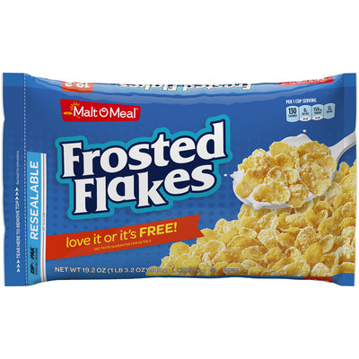 Malt-O-Meal® Frosted Flakes Cereal 19.2 oz. Zip-Pak®
