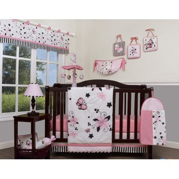 Geenny New Butterfly 13 Piece Crib Bedding Set Color: Pink