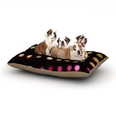 East Urban Home Catherine McDonald 'City Lights' Dog Pillow with Fleece Cozy Top Size: Large (50