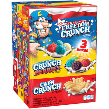 Cap'n Crunch Variety Pack Freedom Crunch™, Crunch Berries®, Cap'n Crunch® 3 ct Pack
