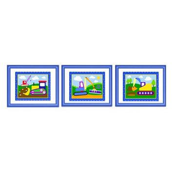 Olive Kids Under Construction Framed Print Set