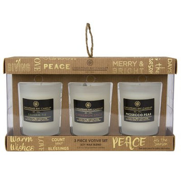 Chesapeake Bay Candle 3 Piece Heritage Scent Votive Candle Set
