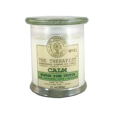 The Therapist Candles No. 01 Winter Pine Utopia Soy Scent Jar Candle