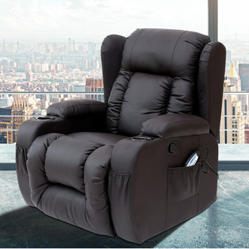 Pdaeinc Idaho Heated Vibrating Massage Recliner Color: Black