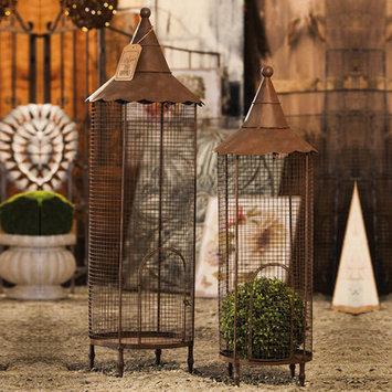 August Grove 2 Piece Iron Nested Decorative Bird Cage Set