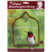 POP'S Charmed Hummingbird Swing, Red, With Dangling Hummingbird Charm
