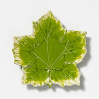 Vietri Reactive Leaves Decorative Plate