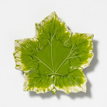 Vietri Reactive Leaves Decorative Plate
