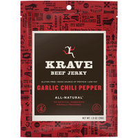 Krave® Garlic Chili Pepper Beef Jerky 1 oz. Pouch