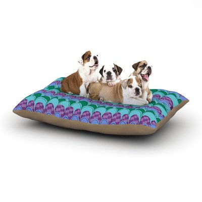 East Urban Home Jane Smith 'Woodland Waves' Dog Pillow with Fleece Cozy Top Size: Large (50