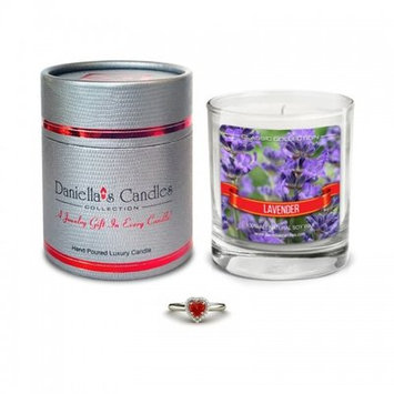 Daniellas Candles Lavender Jewelry Surprise Candle - Ring Size 8