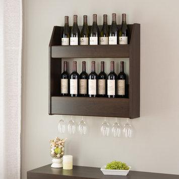Red Barrel Studio Cottingham 24 Bottle Wall Mounted Wine Rack Finish: Espresso