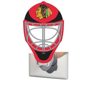 Team Sports America NHL Glass Night Light NHL Team: Chicago Blackhawks