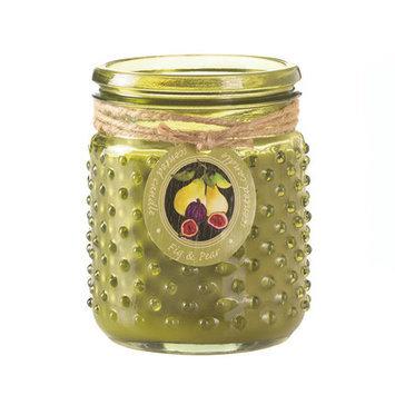 Koehlerhomedecor Fig & Pear Hobnail Jar Candle