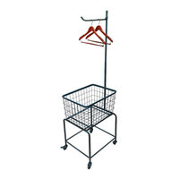 Wilco Home Metal Rolling Laundry Cart Finish: Blue
