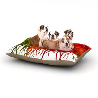 East Urban Home Claire Day 'Fall Splatter' Dog Pillow with Fleece Cozy Top Size: Small (40