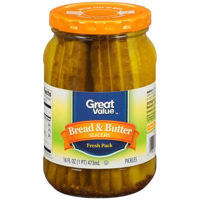 Great Value™ Bread & Butter Slicers 16 fl. oz. Jar