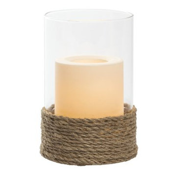Gracie Oaks Pillar Unscented Wax Candle Size: 6