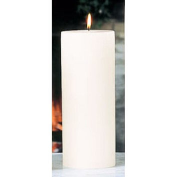 Beachcrest Home Unscented Pillar Candle Size: 4