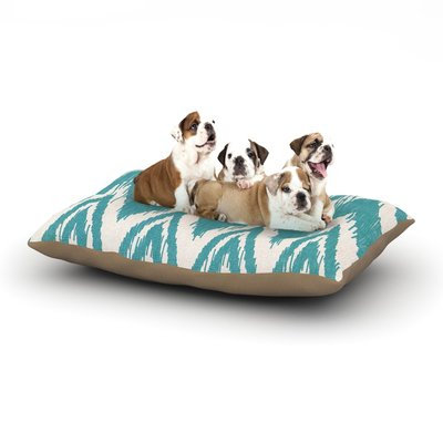 East Urban Home Heidi Jennings 'Tribal Chevron' Dog Pillow with Fleece Cozy Top Color: Aqua, Size: Large (50