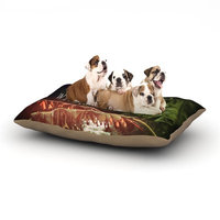 East Urban Home Deepti Munshaw 'Escape to Wilderness' Forest Quote Dog Pillow with Fleece Cozy Top Size: Small (40