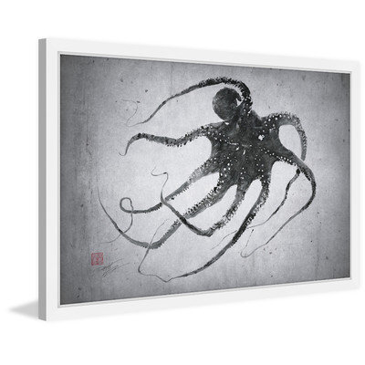 Marmont Hill Inc Marmont Hill - 'Octo Up' by Dwight Hwang Framed Painting Print