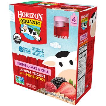 Horizon Organic® Berries, Oats & Chia Lowfat Yogurt with Probiotics 4-3.5 oz. Pouches
