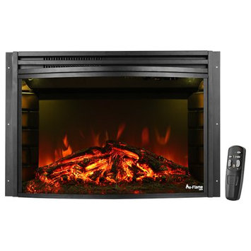 E-flame Curved Electric Fireplace Insert