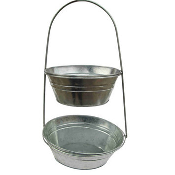 Craft Outlet Two-Tier Container
