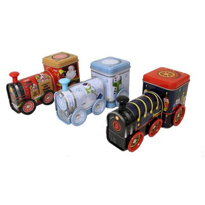 The Holiday Aisle Holiday Train 3 Piece Container Tin Set