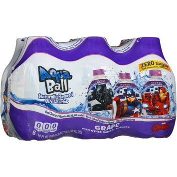 AquaBall™ Grape Naturally Flavored Water Drink 6-10 fl. oz. Bottles
