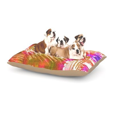East Urban Home Ebi Emporium 'Flamenco Moves' Dog Pillow with Fleece Cozy Top Size: Large (50