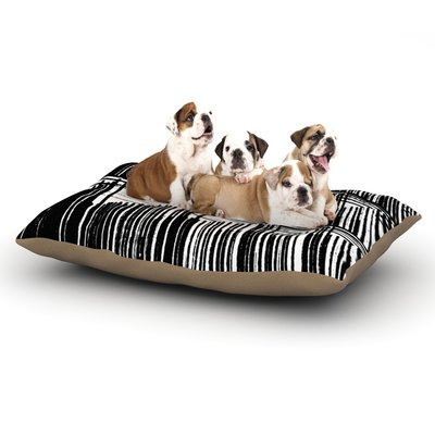 East Urban Home Trebam 'Celik' Lines Dog Pillow with Fleece Cozy Top Size: Small (40