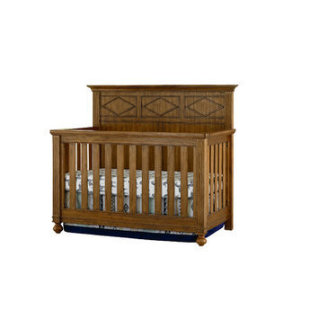 Bassett Furniture Brookdale Convertible Crib - Rustic Brownstone