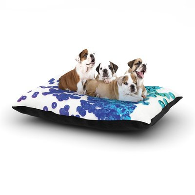 East Urban Home Louise Machado 'Balance Blue' Dog Pillow with Fleece Cozy Top Size: Small (40