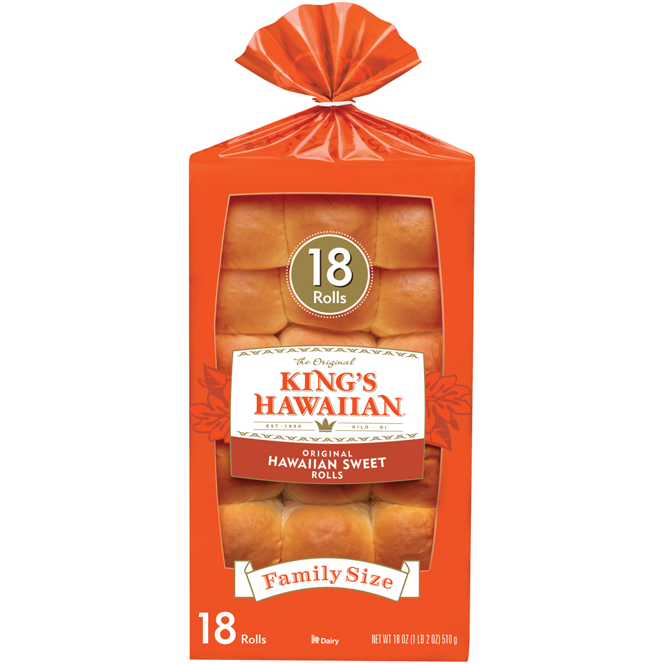 King's Hawaiian® Original Hawaiian Sweet Rolls 18 oz. Bag