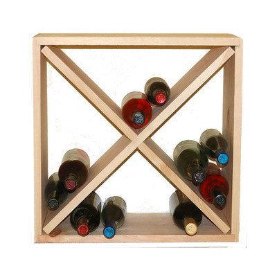 Wineracks.com 24 Bottle Floor Wine Rack Finish: Pine