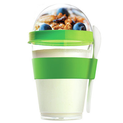 Adnart 12 Oz. Yogurt Cup Storage Container Color: Green