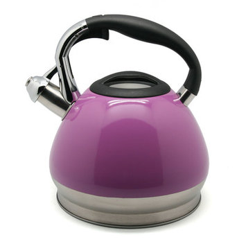Evco International Inc. D/b/a Creative Home Creative Home Triumph 3.5 Qt Whistling Stainless Steel Tea Kettle - Radiant Orchid