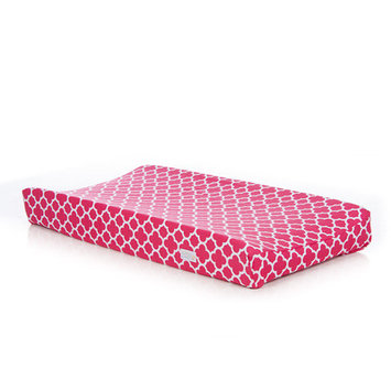 Sweet Potato By Glenna Jean Changing Pad Cover (Pink Quatrefoil)