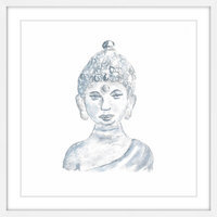 Marmont Hill Inc Marmont Hill - 'Buddha Statue' by Thimble Sparrow Framed Painting Print