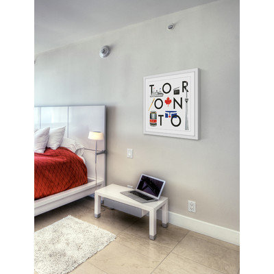 Marmont Hill Inc Marmont Hill - 'Toronto Square' by Molly Rosner Framed Painting Print