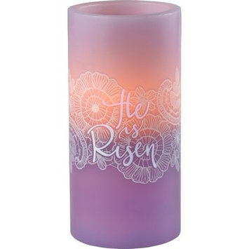 Precious Moments Battery Operated Unscented Pillar Candle Size: 6