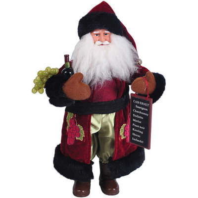 The Holiday Aisle Wine Santa